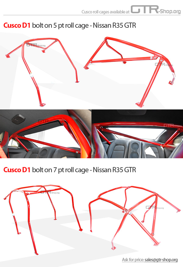 R35 Gtr Cusco Roll Cages Gt R Register Nissan Skyline